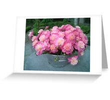 A Bucket of Peonies Greeting Card