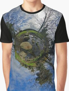 Stepping Stones Across Kilkeel River, County Down Graphic T-Shirt