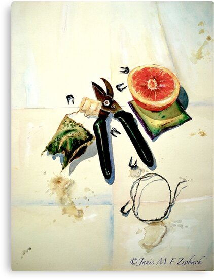 Still Life with Picture Wire by ©Janis Zroback