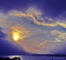 Storm clouds over Hobart, Tasmania by PC1134