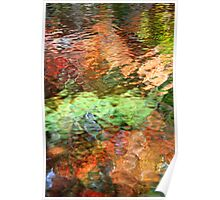Colorful Abstract Reflection Poster