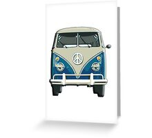 Volkswagen, Van, VW, Camper, Blue, Split screen, 1966 Volkswagen, Kombi (North America) Greeting Card