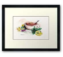 Afternoon Tea - watercolor painting  Framed Print