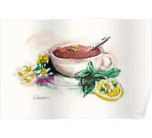 Afternoon Tea - watercolor painting  Poster