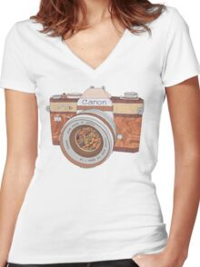Wood Canon Women's Fitted V-Neck T-Shirt