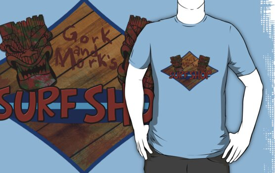 Gork and Mork's Surf Shop (Warhammer 40k) by pixel-pie-pro