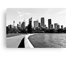 Sydney CBD Black and White Canvas Print