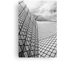 Sydney Opera House Close up Black and White Canvas Print