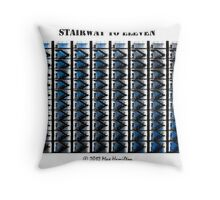 Stairway to Eleven Throw Pillow