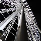 Brisbane wheel close up at night by William Goschnick