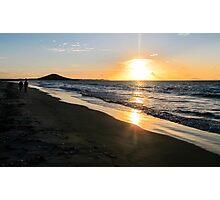 sunset at karikari beach Photographic Print