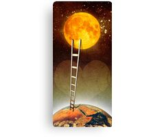 Love you up to the moon Canvas Print