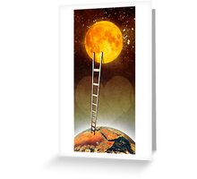Love you up to the moon Greeting Card