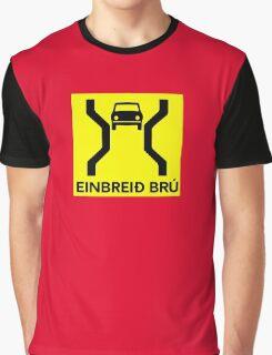 Single-Width Bridge, Traffic Sign, Iceland Graphic T-Shirt