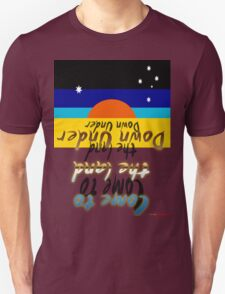 Come To The Land Down Under T-shirt Design T-Shirt