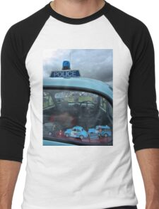 10 mini Morris Minor police cars Men's Baseball ¾ T-Shirt