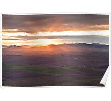 Palouse sunrise Poster