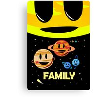 Solar System Family (to scale) Canvas Print