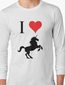 I Love Unicorns (black design) Long Sleeve T-Shirt