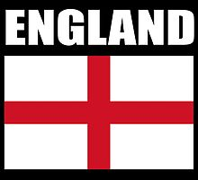 England, English Flag, Flag of St George, English, Englander, Pure & simple, on Black by TOM HILL - Designer