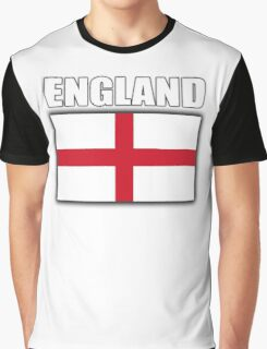 England, English Flag, Flag of St George, English, Englander, Pure & simple, on Black Graphic T-Shirt
