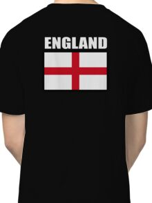 England, English Flag, Flag of St George, English, Englander, Pure & simple, on Black Classic T-Shirt