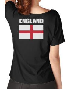 England, English Flag, Flag of St George, English, Englander, Pure & simple, on Black Women's Relaxed Fit T-Shirt