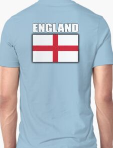 England, English Flag, Flag of St George, English, Englander, Patriot, Pure & simple, on Black Unisex T-Shirt