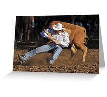 The dirt flies! Greeting Card