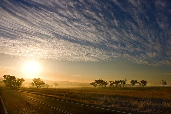 Smokey Sunset ~ Cootamundra (NSW) by Rosalie Dale