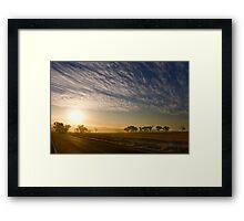 Smokey Sunset ~ Cootamundra (NSW) Framed Print