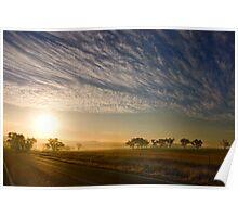 Smokey Sunset ~ Cootamundra (NSW) Poster
