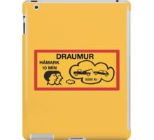 Parking 10 Min Maximum, Traffic Sign, Iceland iPad Case/Skin