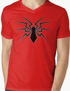 Glowing Spider Mens V-Neck T-Shirt