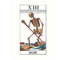 Death Tarot Card Art Print