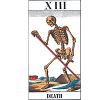 Death Tarot Card Photographic Print