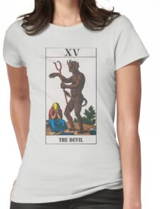The Devil Tarot Womens Fitted T-Shirt