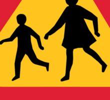 Caution Children School, Traffic Sign, Iceland Sticker
