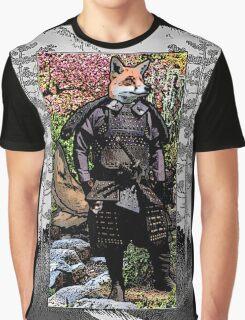 Kitsune Samurai- Portrait  Graphic T-Shirt