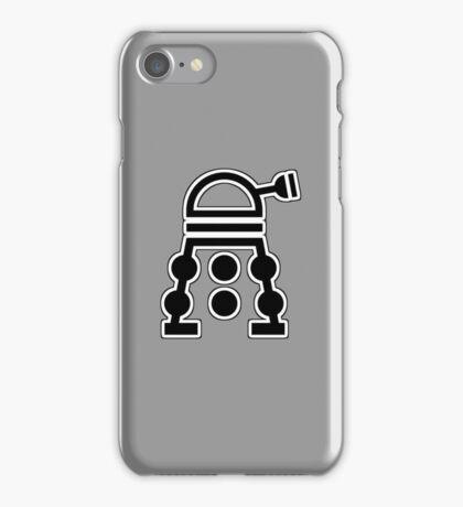 Delusional Dalek Symbol and flat color iPhone Case/Skin
