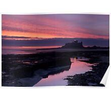 Sunrise, Bamburgh Castle, England. Poster