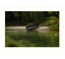 Boat Marooned Art Print