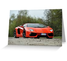 Lamborghini Adventador Greeting Card