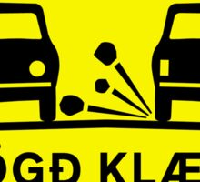 Newly-Laid Road Surface, Traffic Sign, Iceland Sticker