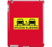 Newly-Laid Road Surface, Traffic Sign, Iceland iPad Case/Skin