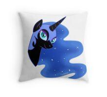 nightmare moon's face Throw Pillow