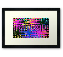 Funky Colors Abstract Framed Print