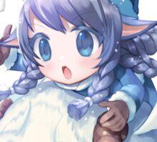Cute Winter Wonder Lulu - League of Legends Sticker