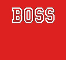 BOSS, The Boss, The Govenor, CEO, In charge, The Chief, Obey! On Red Womens Fitted T-Shirt