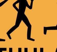 Organized Street Running, Traffic Sign, Iceland Sticker